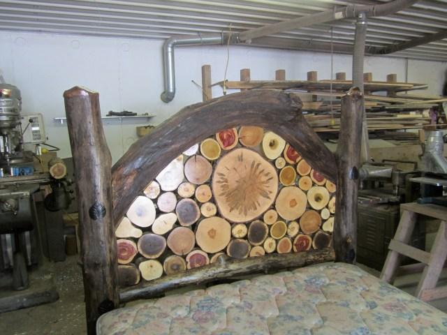 Log Headboard