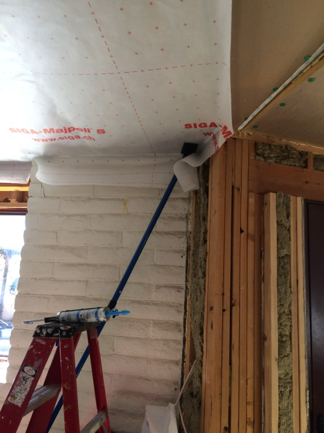Caulk in corner