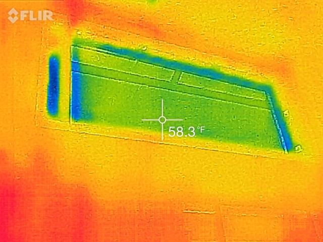 Upper window missing insulation