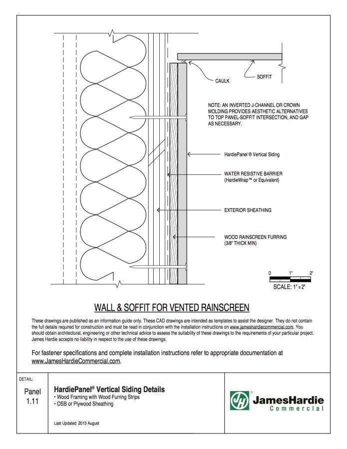 HardiePanel Siding Details Wood Framing with Wood Furring