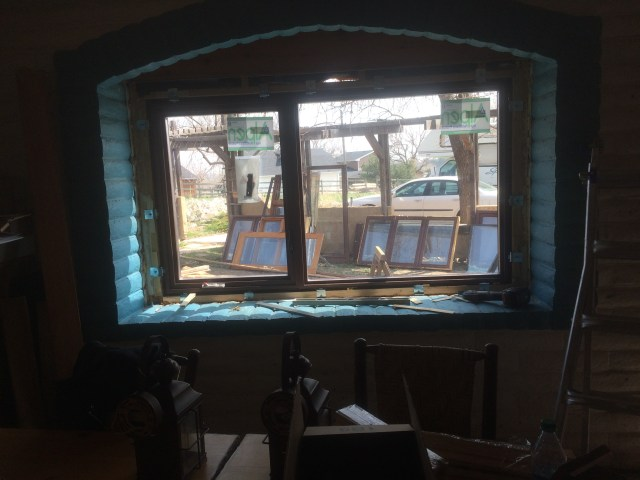 Block Wall with New Window