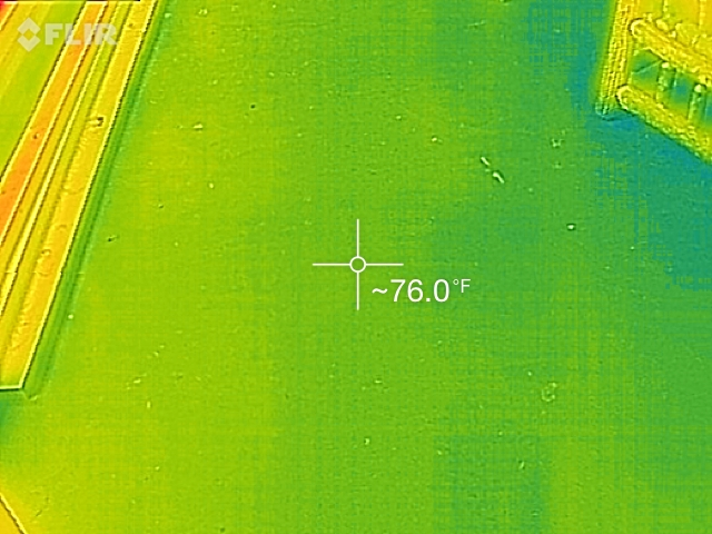Living Room Floor about 76 degrees