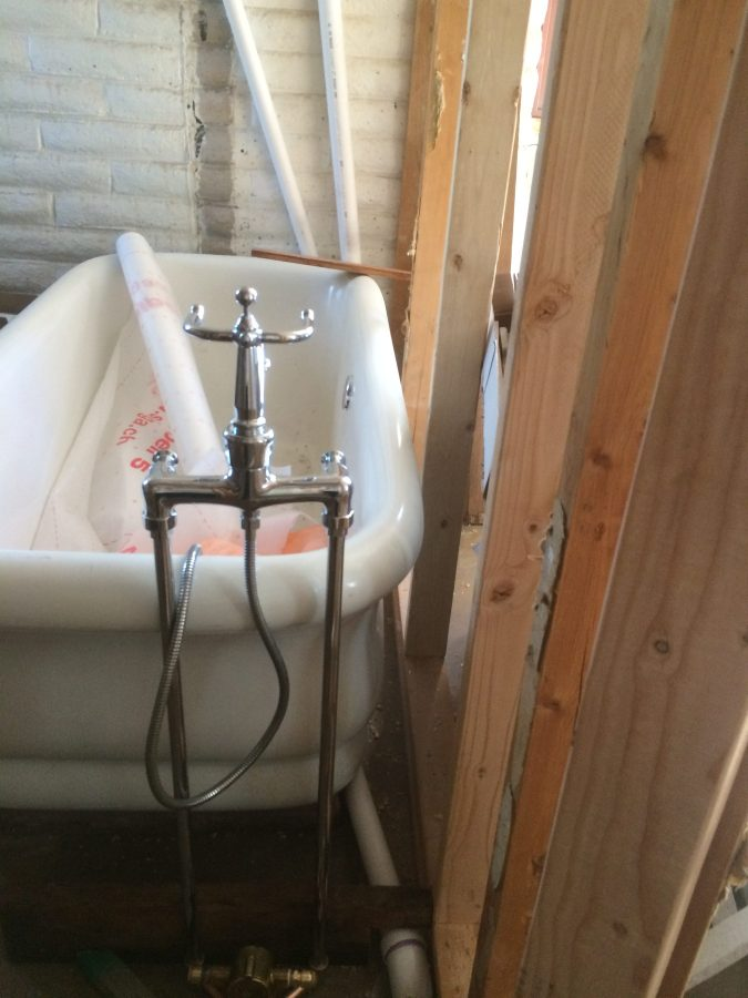 Faucet Position from Rear