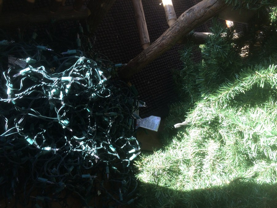 Broken light pile