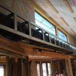 Flex duct in soffit