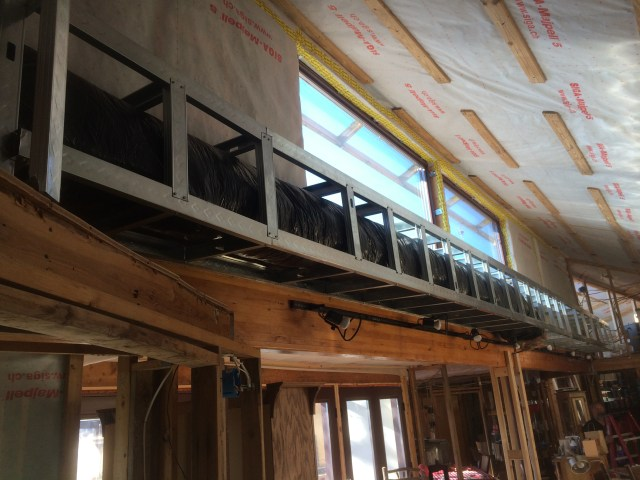 Flex duct in soffit