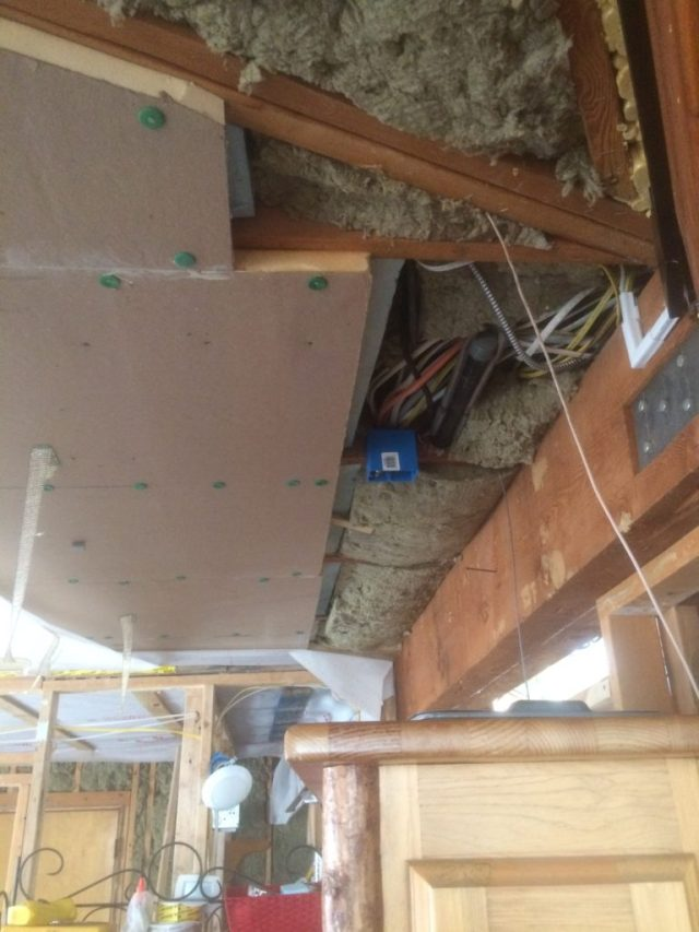 Insulation with Orphan Phone LIne
