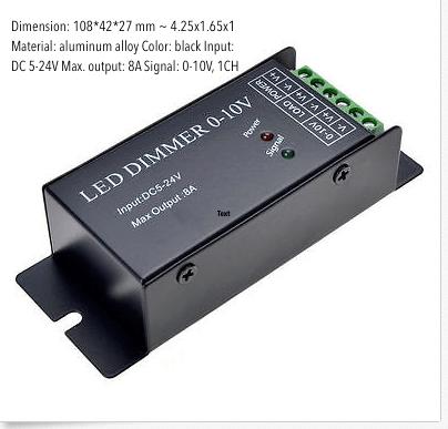 LED Dimmer 0-10 volt