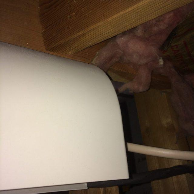 Hood for Fan inside Crawlspace