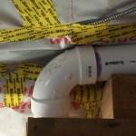 Ceiling Membrane around Radon Pipe