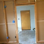 Entry Drywall from Kitchen