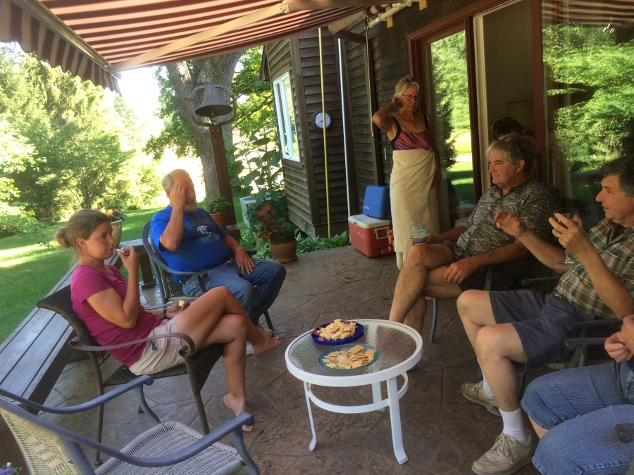 Friends at the Harrimans