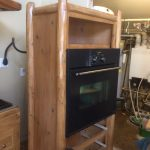 Oven cabinet stained
