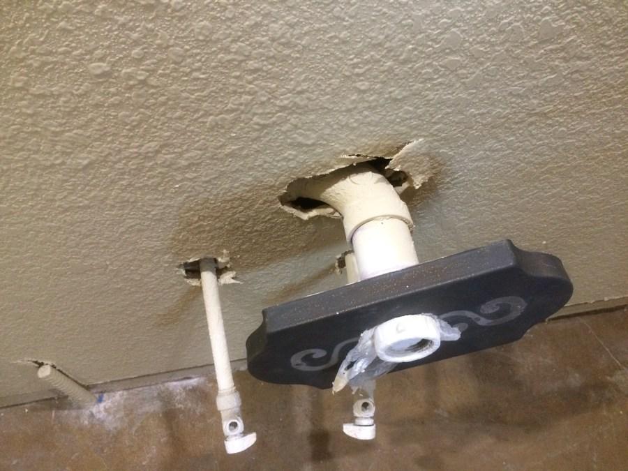 Bathroom drain hole