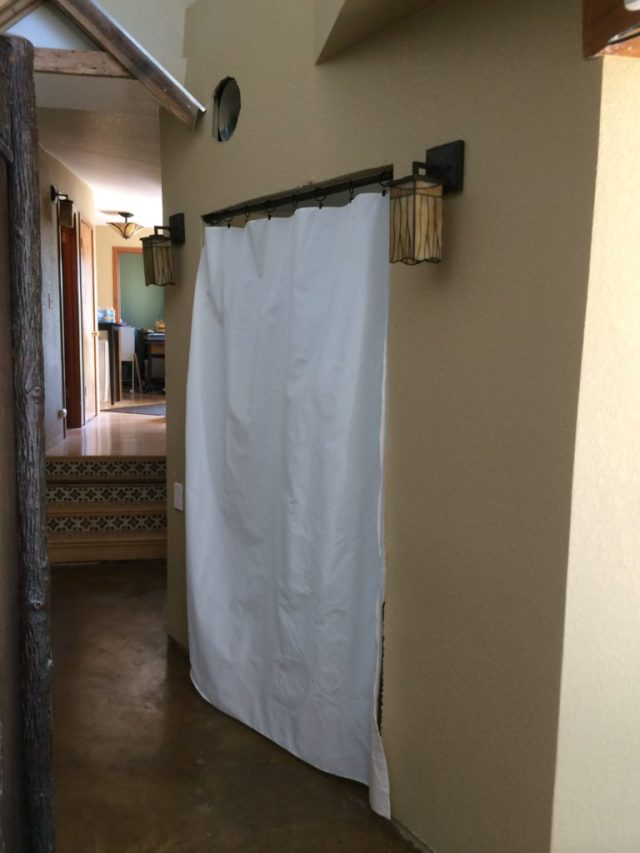 Privacy curtain closed