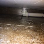 Leaking drain with extended pipe