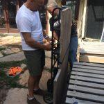 Moving the granite slab