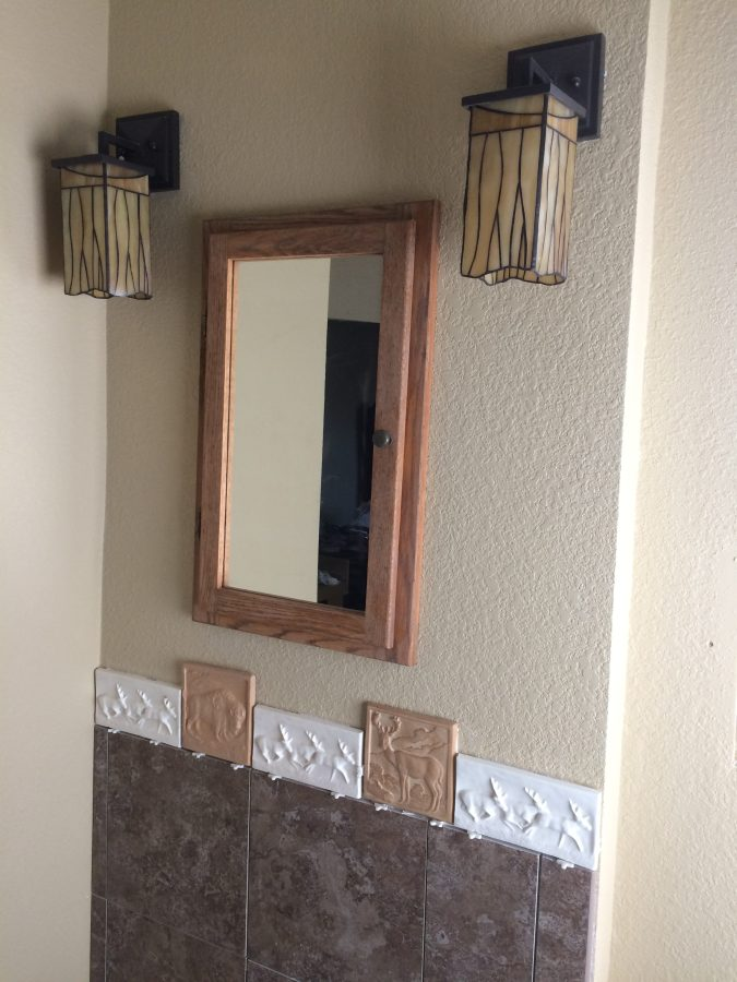 Master bath sink tile