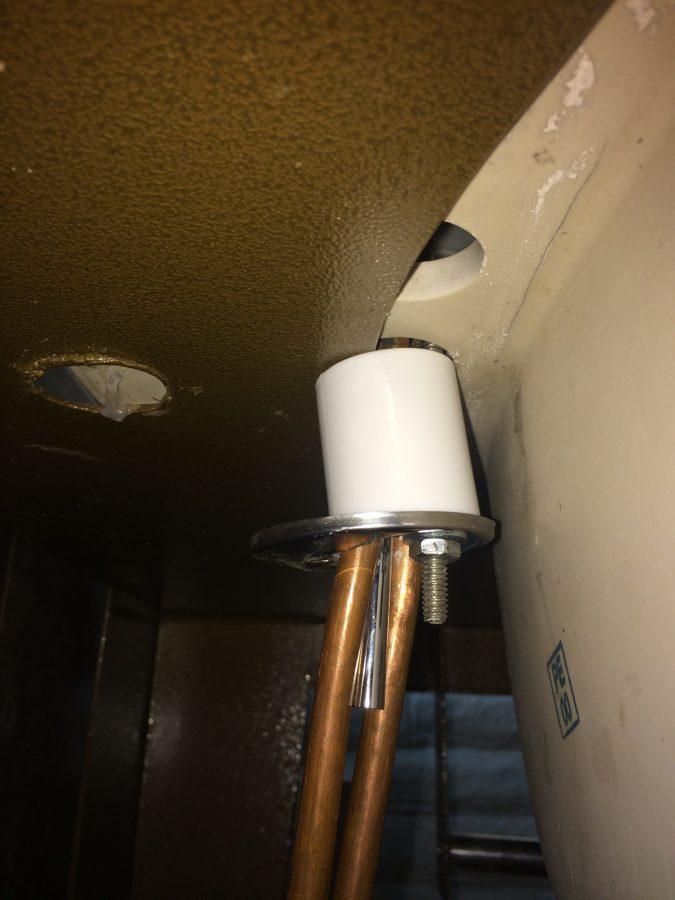 Improvised faucet fastener
