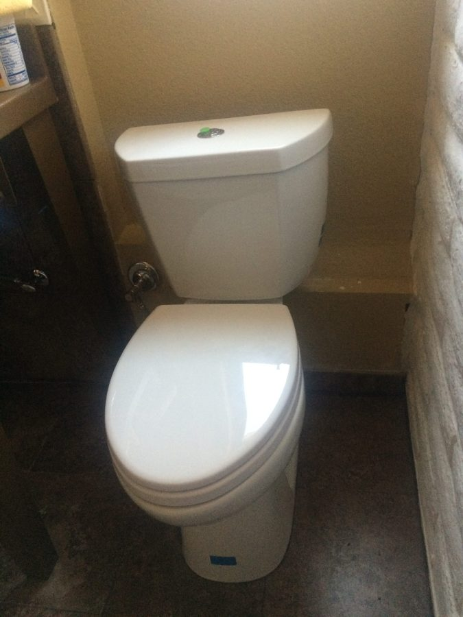 Final toilet install