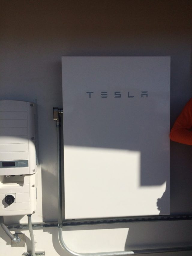 Tesla power wall battery backup