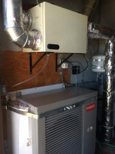 Heat pump and ERV