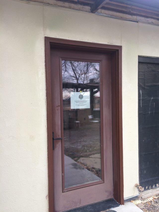 Exterior brown door trim