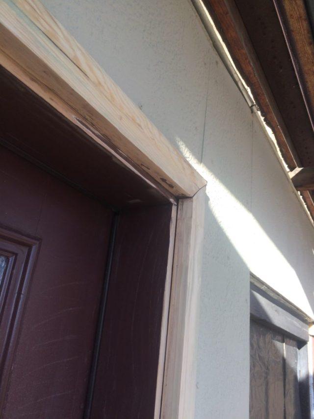 Sanded door trim