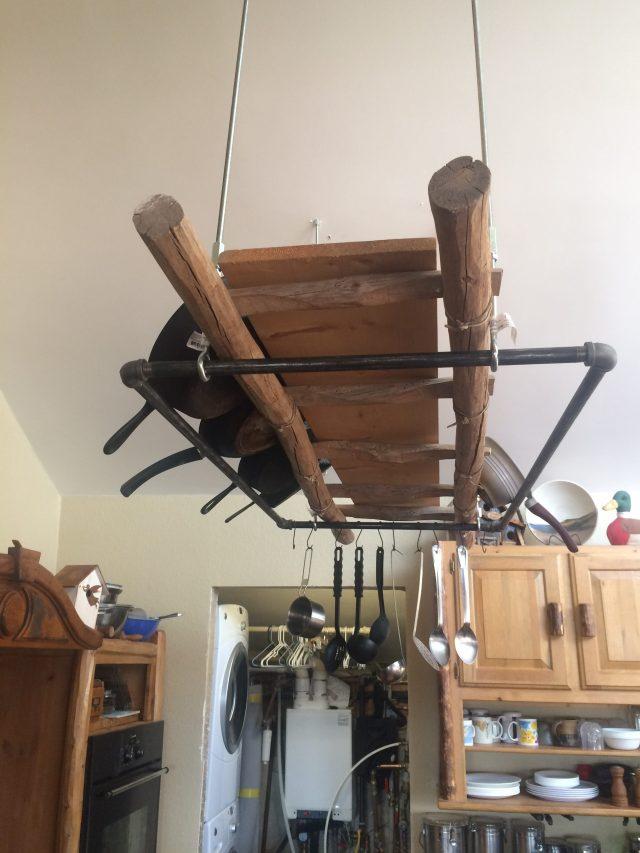 Pot rack and hooks