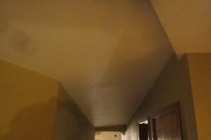 Rear Hall Drywalled Ceiling
