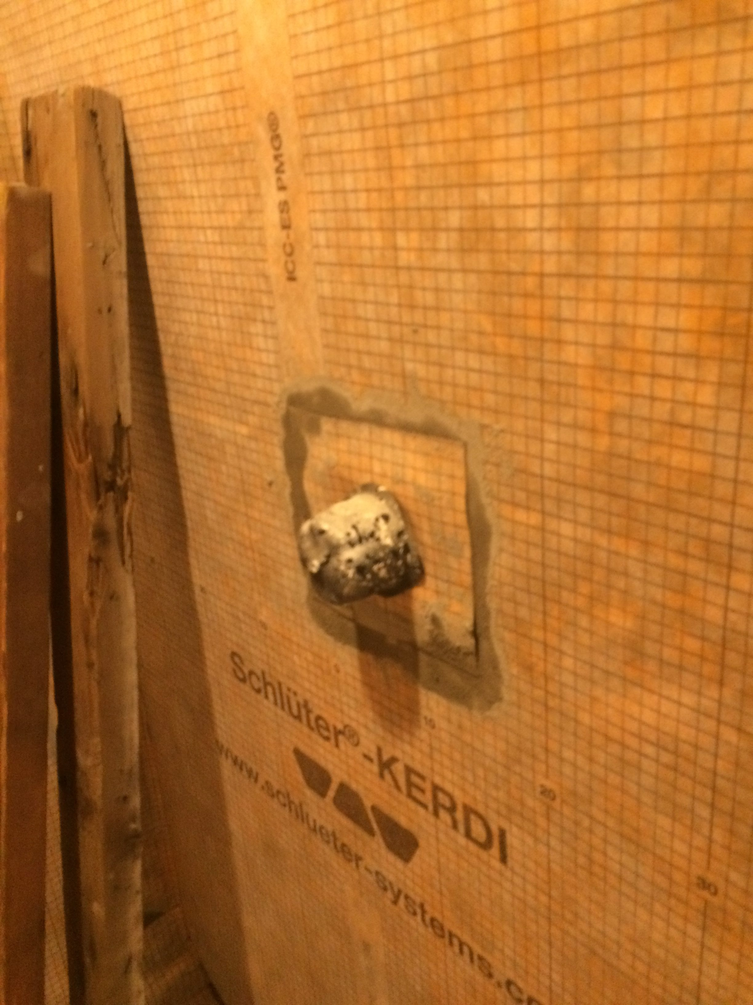 Cement Board Around Shower Valve