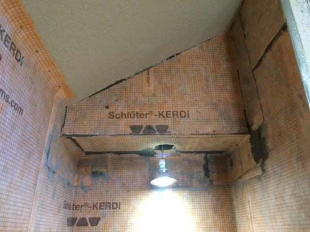 Shower head wall