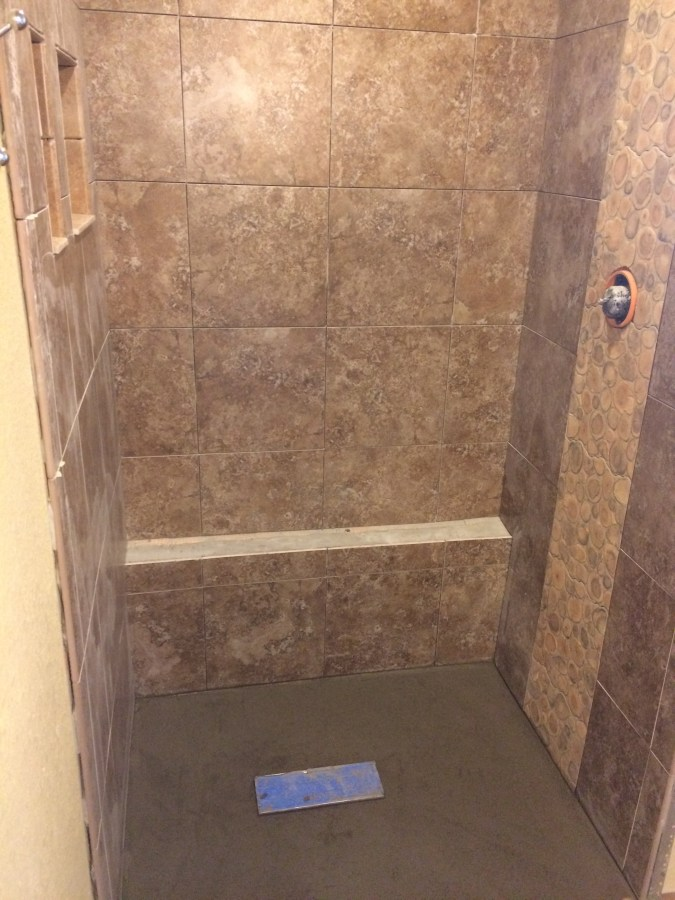 """Shower with feature """"waterfall"""""""
