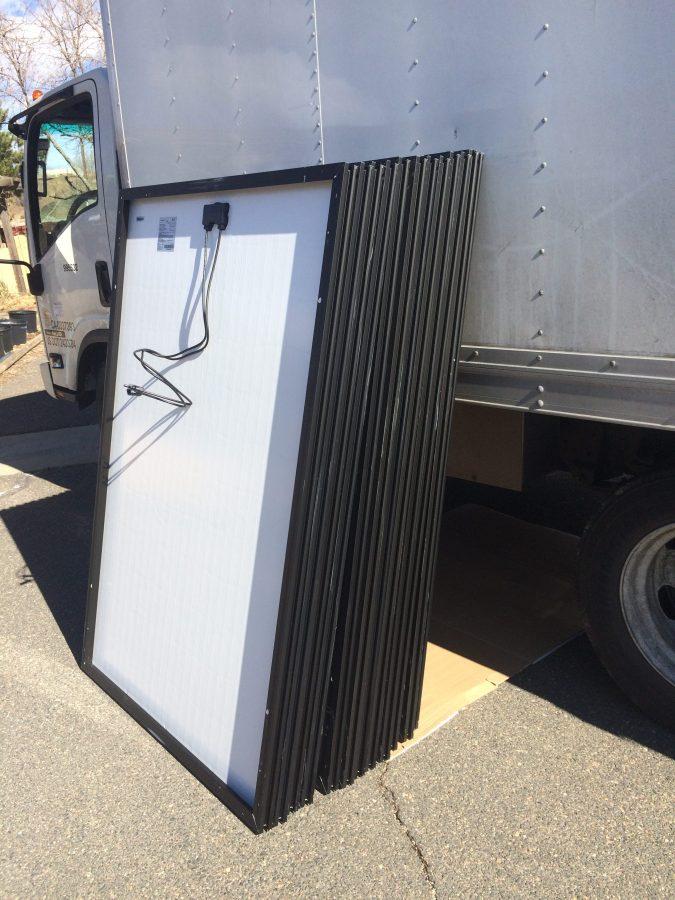 Solar panels arrive