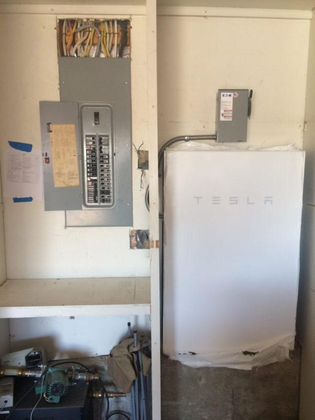 Powerwall and interior disconnect