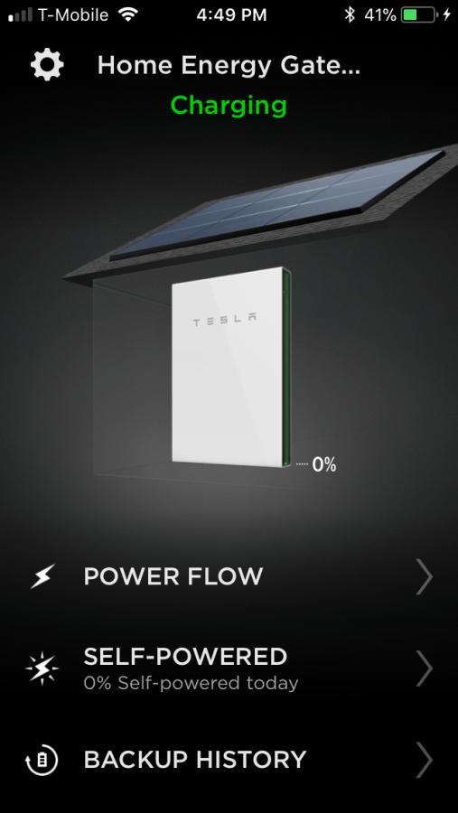 Powerwall at 0%