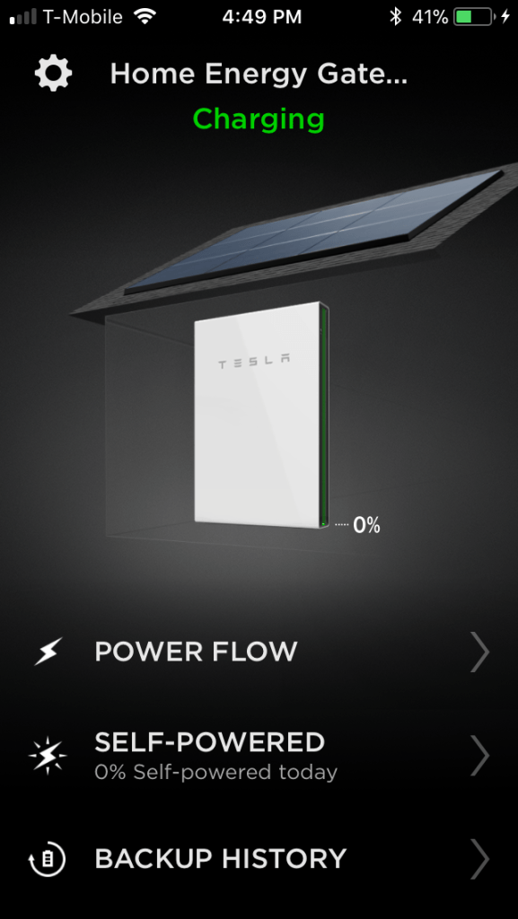 Powerwall at 0%