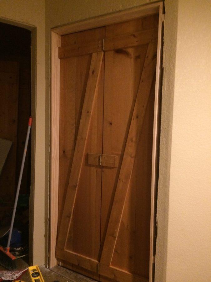 Rustic doors with z bracing