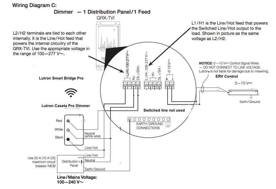 GRX-TVI Wiring Diagram With Dimmer