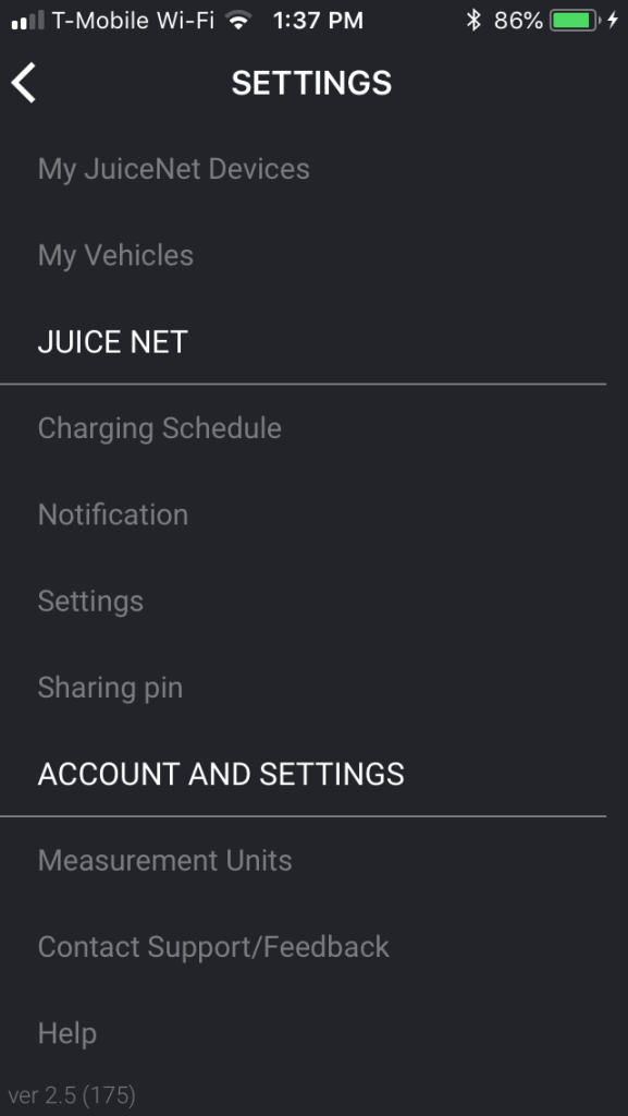 Juice Net Settings