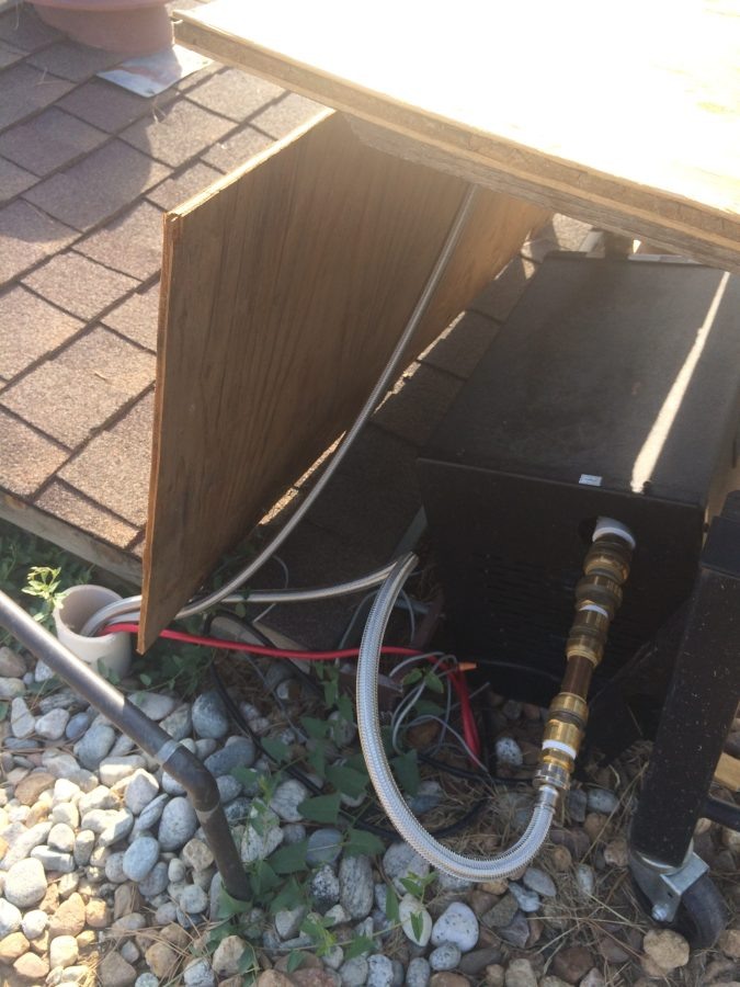 Chiller piping in air duct