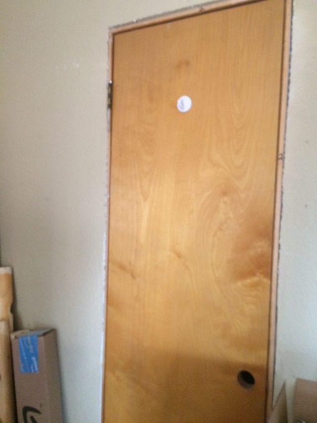 Reused closet door