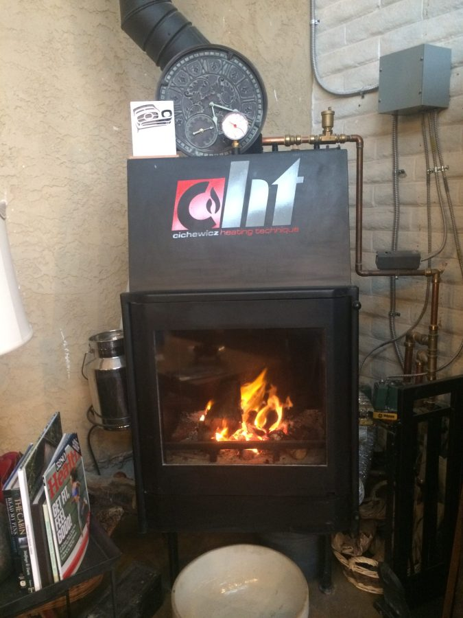 Nice fire in stove