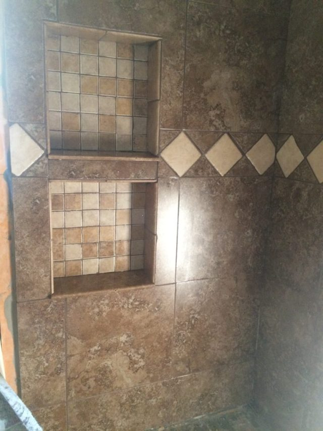 Niche grouted