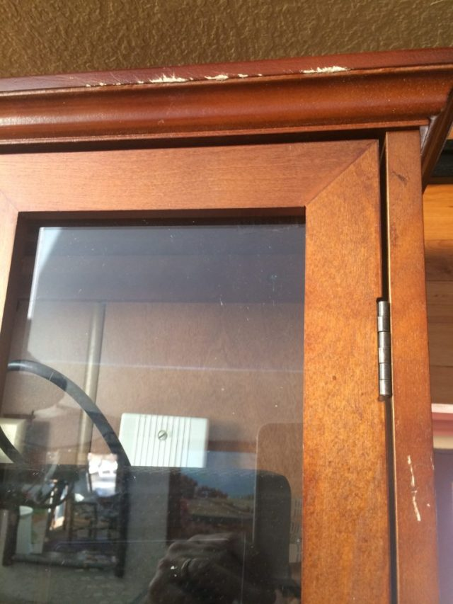 Marred the front of the cabinet