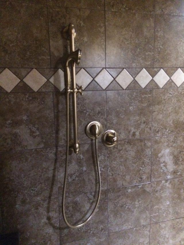 Champagne bronze hand shower