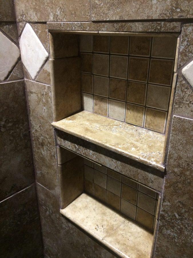 Shower niche after cleanup