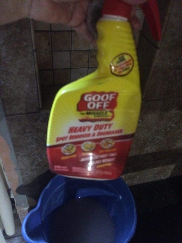Goof Off cleaner