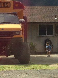 Monster School Bus to admire