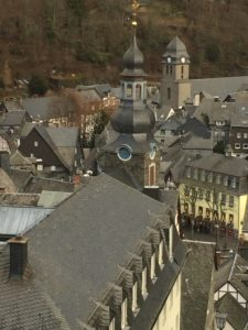 View of Monschauer from the castle wall
